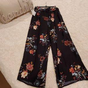 Multi color flare drawstring pants